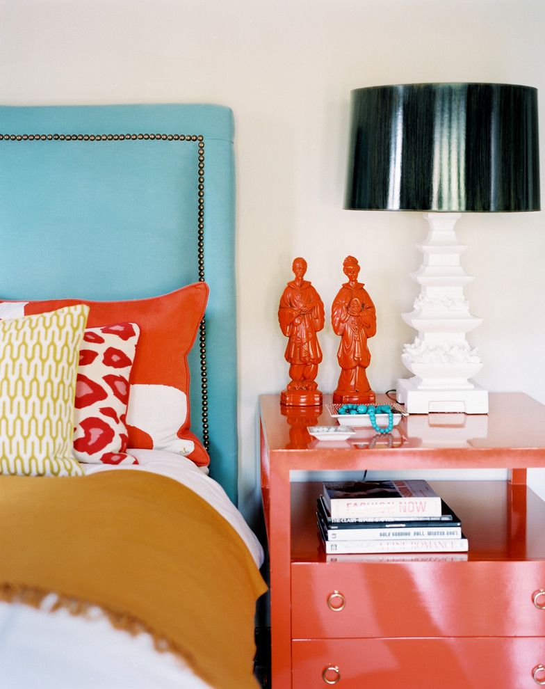 Painting with a Twist Lake Charles for a Eclectic Bedroom with a Nightstand and Betsy Burnham by Burnham Design