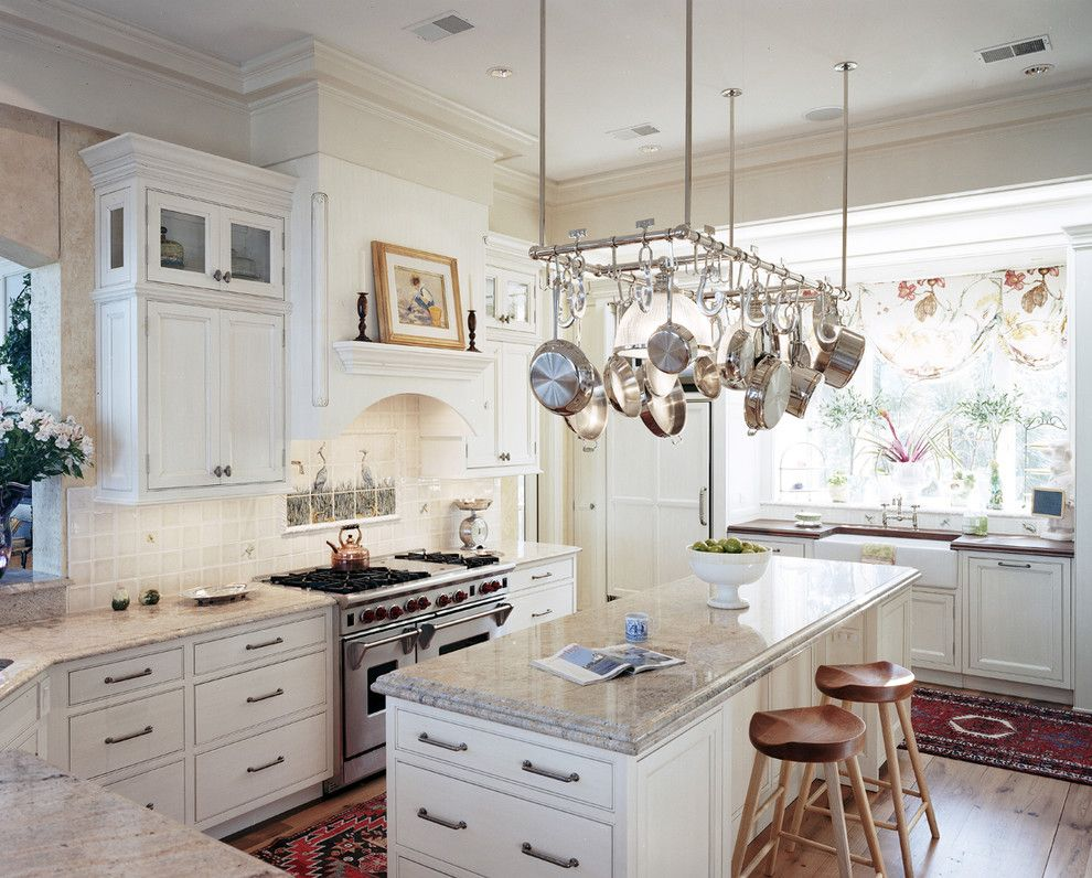 Painting with a Twist Lake Charles for a Traditional Kitchen with a Pot Rack and Wetmore Residence by Frederick + Frederick Architects