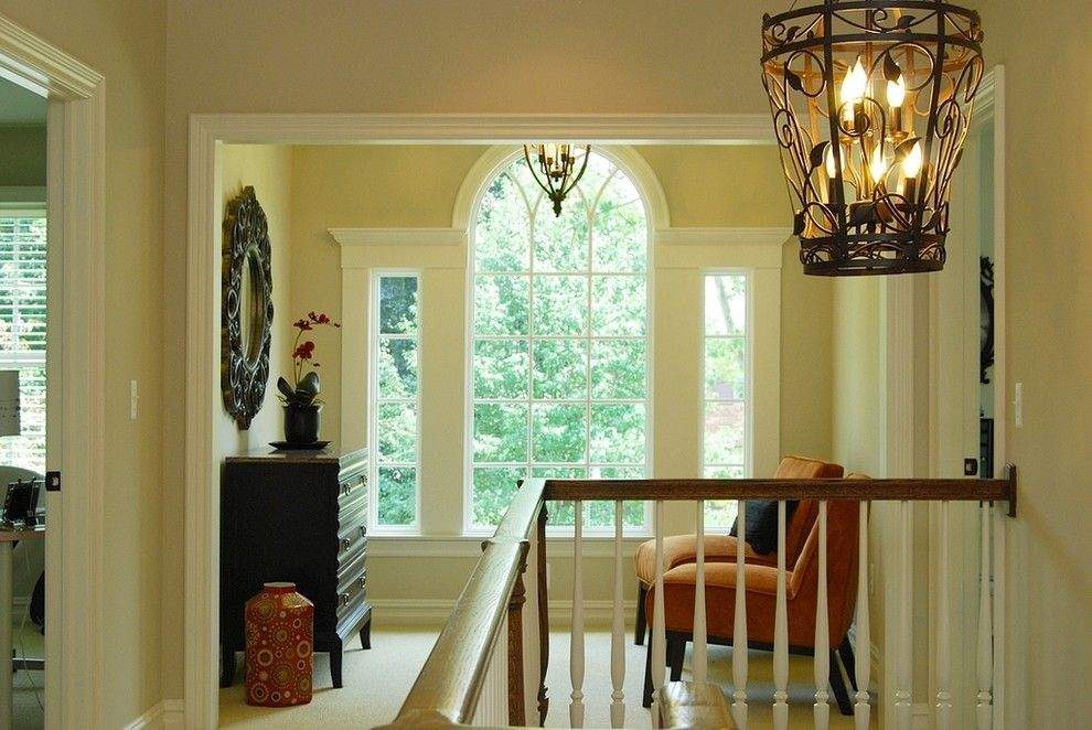 Palladian Window for a Traditional Staircase with a Chest of Drawers and Suffield   Birmingham, Mi by Studio Tanya Interior Design