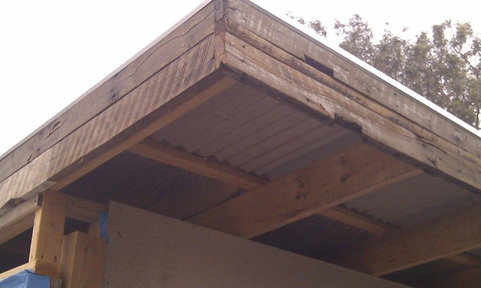Pallet Shed for a Eclectic Shed with a Pallets and Fascia by Imag Ne Design + Construction