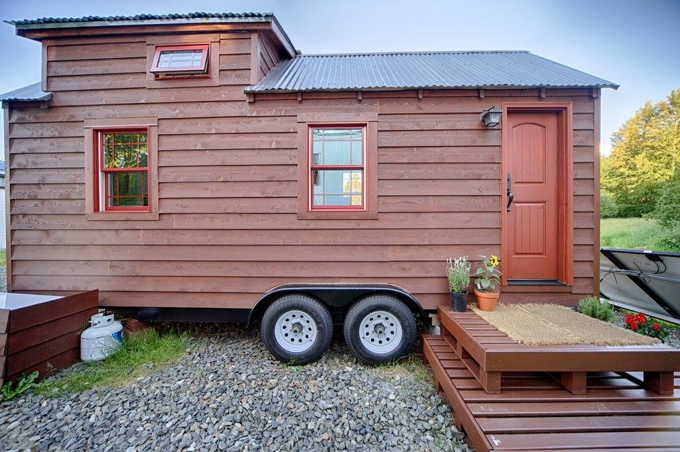 Pallet Shed for a Rustic Exterior with a Corrugated Galzanized Metal Roof and Our Tiny Tack House by the Tiny Tack House