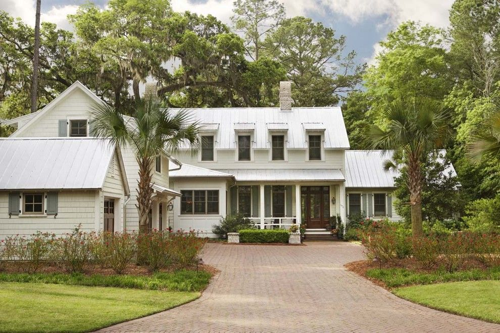 Palmetto Exterminators for a Traditional Exterior with a Standing Rib Roof and Palmetto Bluff   Private Residence by Linda Mcdougald Design | Postcard From Paris Home