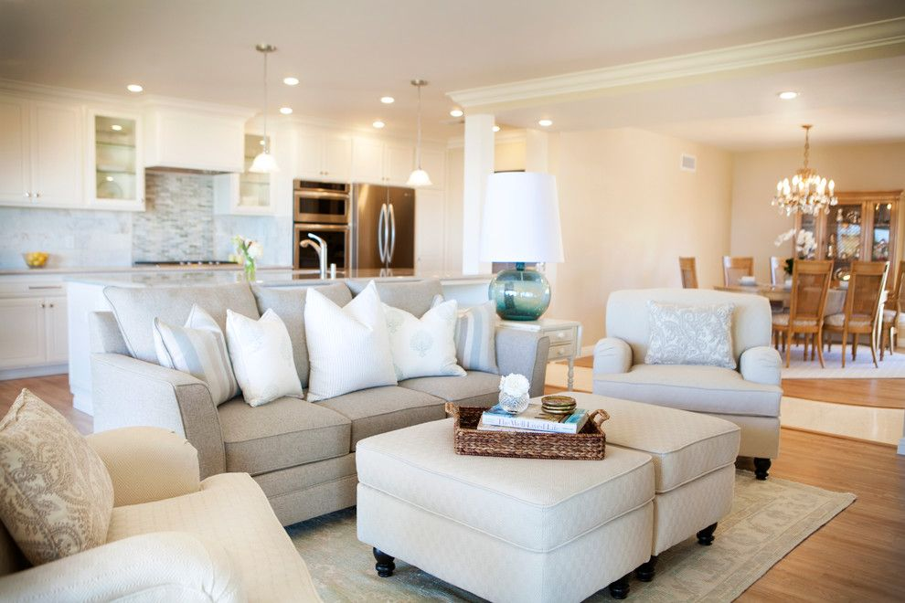 Palo Verde Homes for a Transitional Living Room with a Transitional Design and Rancho Palos Verdes Home with a View by Serendipite Designs