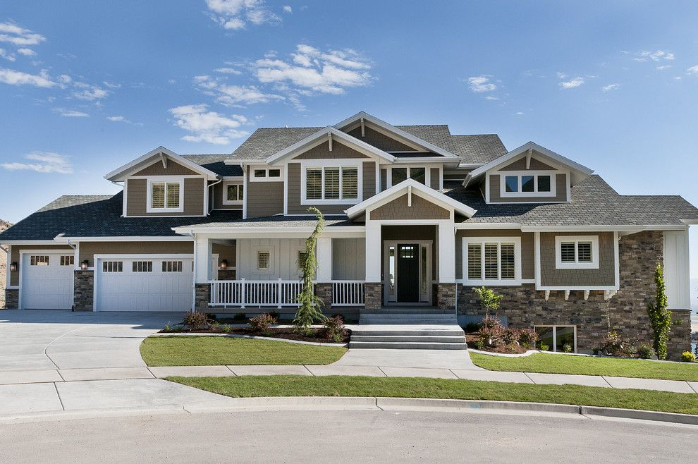 Parade of Homes Mn for a Craftsman Exterior with a Grass and Modified Telluride by Candlelight Homes