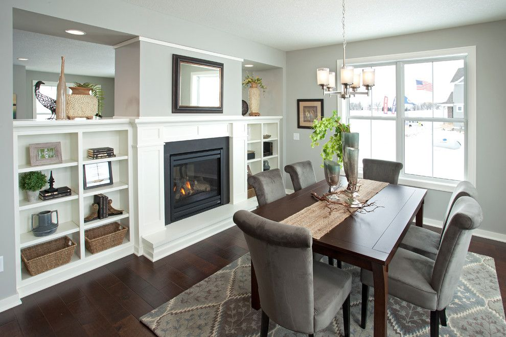 Parade of Homes Mn for a Traditional Dining Room with a Gray Dining Chairs and the Summerlyn   Spring 2014 Parade of Homes Model (Chaska, Mn) by Robert Thomas Homes