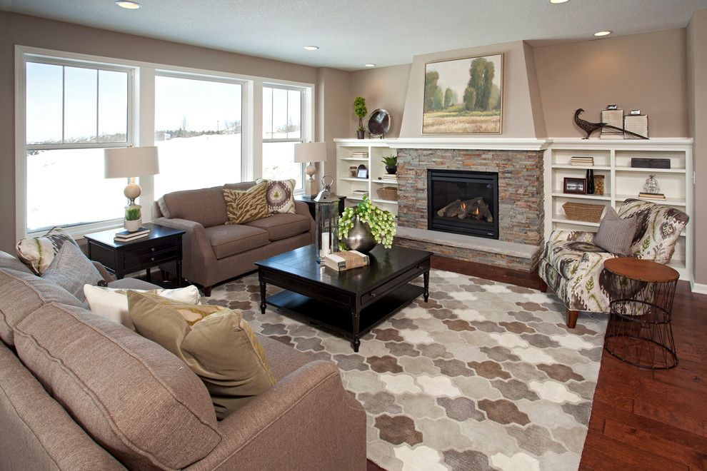 Parade of Homes Mn for a Traditional Living Room with a Brick Fireplace and the St. Croix   Spring 2014 Parade of Homes (Plymouth, Mn) by Robert Thomas Homes