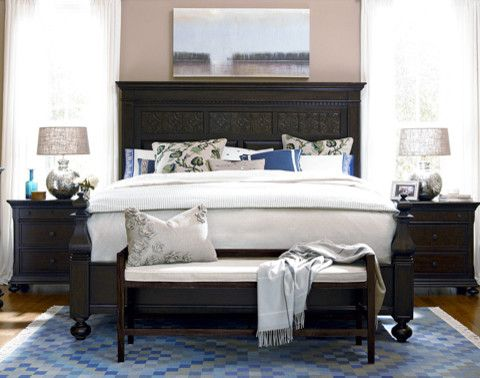 Paula Deen Lemonade for a Traditional Bedroom with a Traditional and Paula Deen Aunt Peggy's Panel Bed in Molasses by Furnitureland South