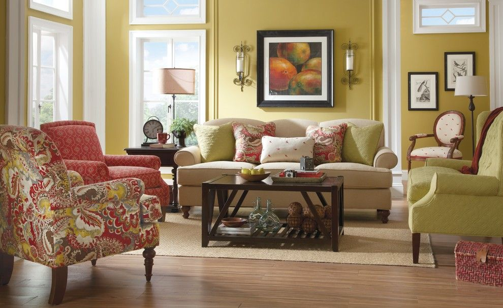 Paula Deen Lemonade for a Traditional Living Room with a Sofa by Paula Deen and My Sister in Laws Living Room by Kleban Furniture Co. Inc.