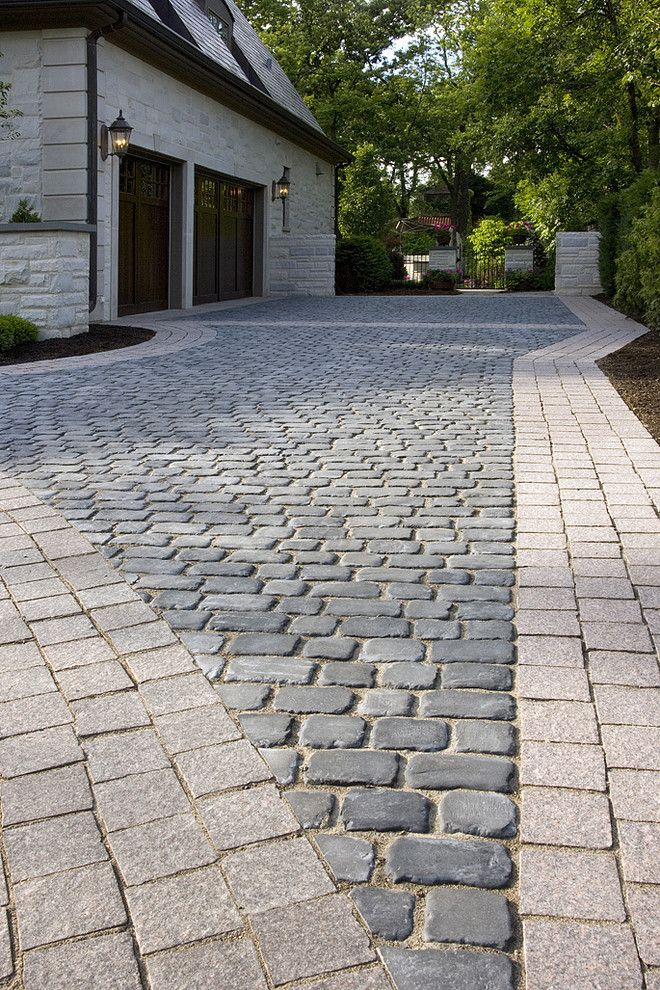 Paver Patterns for a Traditional Landscape with a Granite Banding and James Martin Associates by James Martin Associates