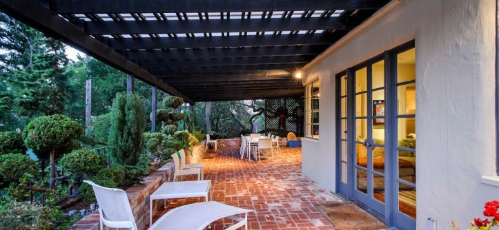 Paver Patterns for a Traditional Patio with a French Doors and Jackling Drive by Dennis Mayer, Photographer