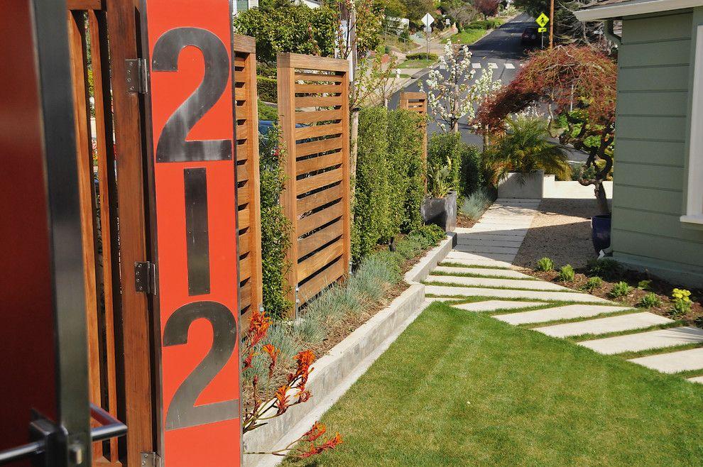 Paver Steps for a Modern Landscape with a Entry and Mod. Kensington by Afla Landscape Design