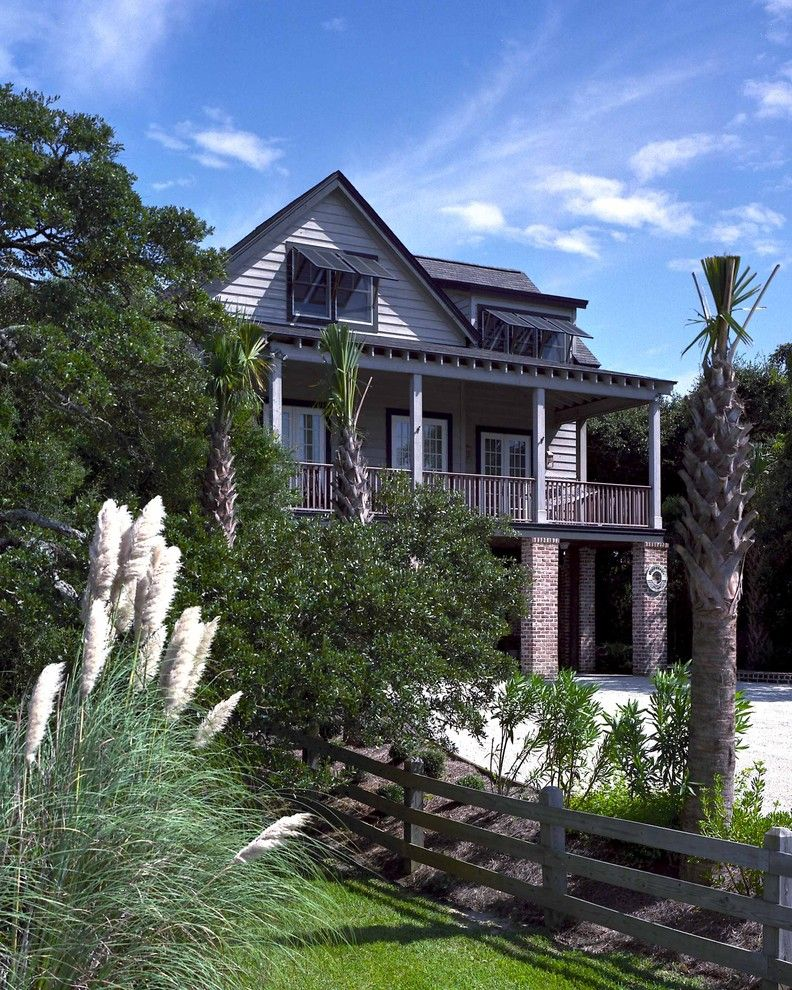 Pawleys Island Posh for a Beach Style Exterior with a Eaves and Pawleys Island Residence by Catalyst Architects, Llc