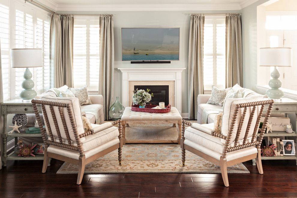 Peaceful Valley Furniture for a Beach Style Living Room with a Cape Cod and Hingham Shipyard Home by Casabella Interiors