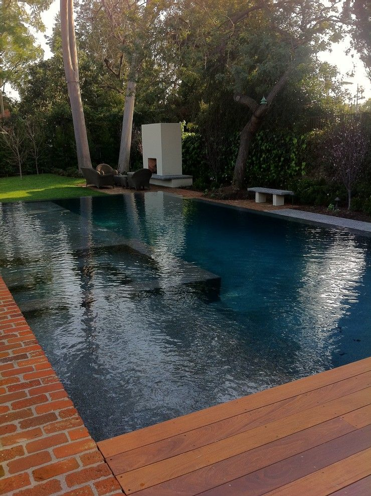 Pebble Sheen for a Contemporary Pool with a Pebble Sheen Ocean Blue Rollover Bond Be and Ocean Blue Pebble Sheen by M Preciado Pool Plastering