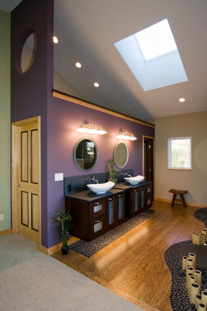 Pebble Tec Colors for a Asian Bathroom with a Stool and Spa Retreat by Dreammaker Bath & Kitchen of Greater Grand Rapids