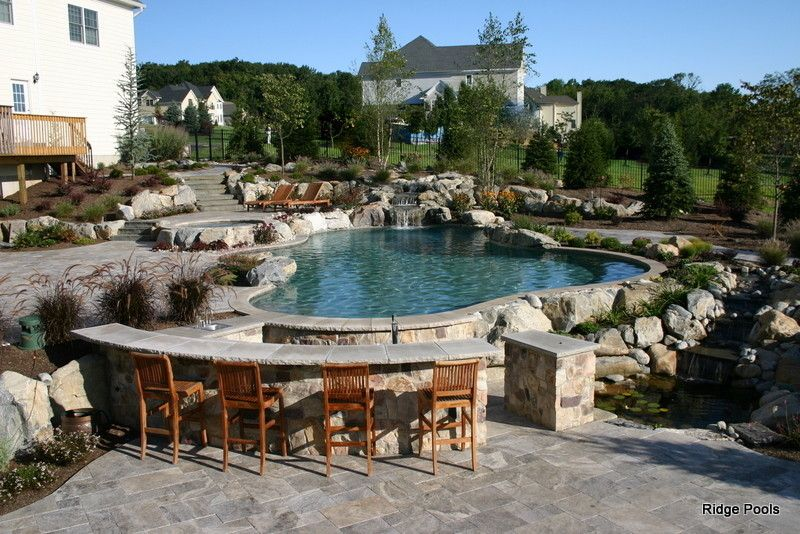 Pebble Tec for a Mediterranean Pool with a Pool and Ridge Pools Idea Book by Ridge Pools