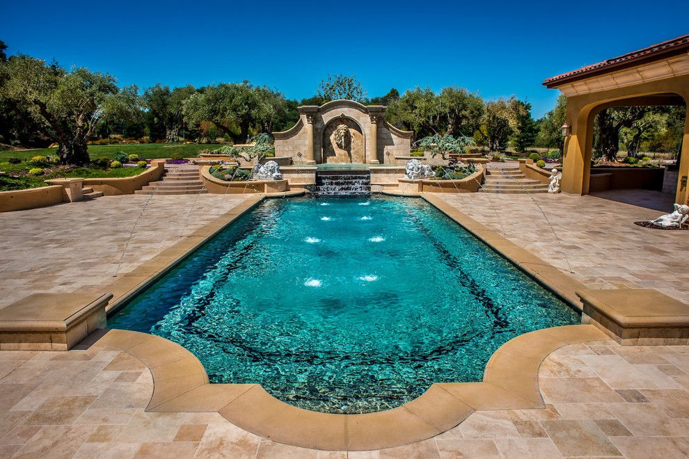 Pebble Tec for a Modern Pool with a Pebble Tec and Premier Pools & Spas Caribbean Blue Pebble Tec by Pebble Tec Superior Quality Pool Finishes