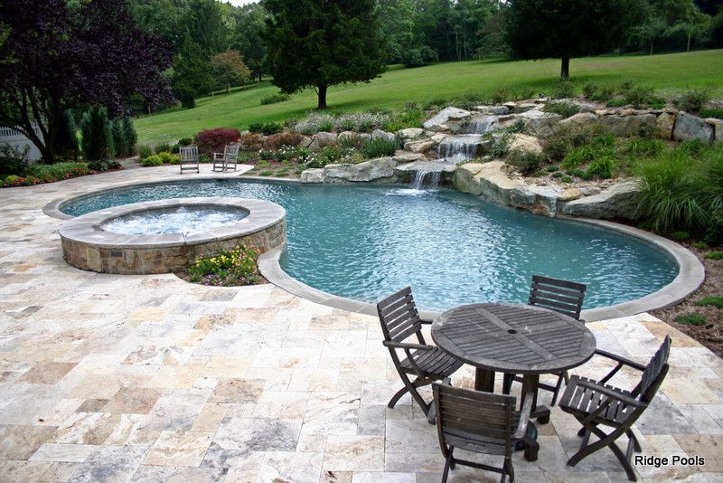 Pebble Tec for a  Pool with a Swimming Pool and Ridge Pools Idea Book by Ridge Pools