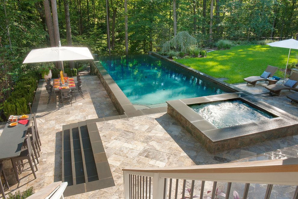 Pebbletec for a Traditional Pool with a Install Swimming Pools and Dahiya by Lewis  Aquatech