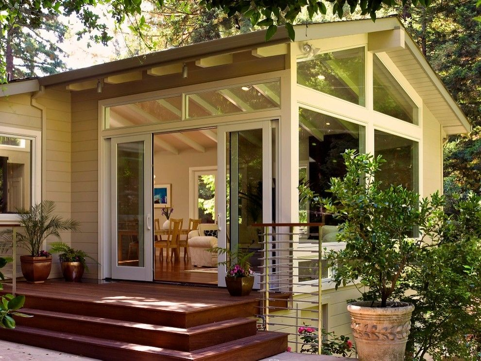 Pella Windows and Doors for a Traditional Exterior with a Potted Plant and Mill Valley Contemporary by Andrew Feldon