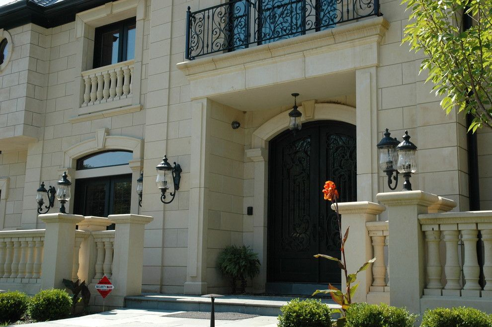 Peninsula Building Materials for a Traditional Exterior with a Balustrade and First Impressions, Your Home Entry by Peninsula Building Materials