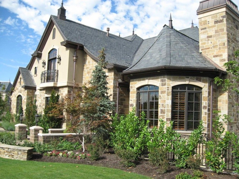 Peninsula Building Materials for a Traditional Exterior with a Stone and Stone on House by Peninsula Building Materials