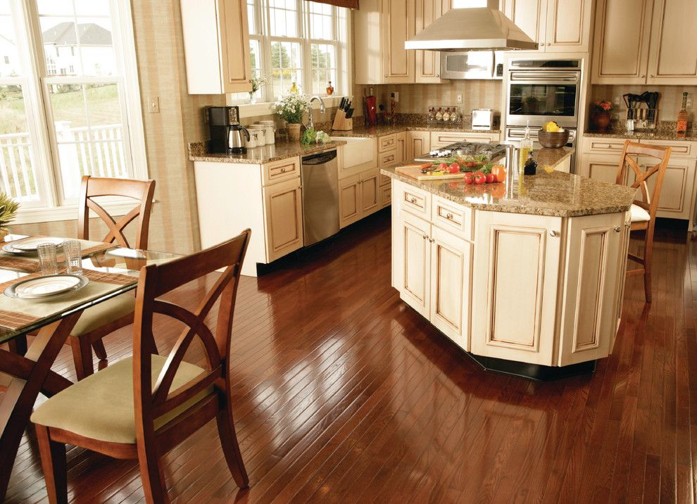 Peninsula Building Materials for a Traditional Kitchen with a Hardwood and Kitchen by Carpet One Floor & Home