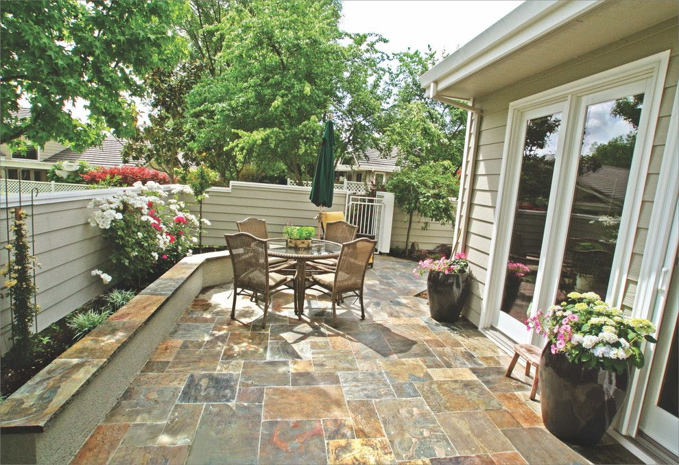 Peninsula Building Materials for a Traditional Spaces with a Bluestone Patio and Backyard Retreat by Peninsula Building Materials