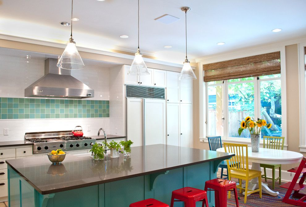 Pental for a Modern Kitchen with a White Cabinet and Madison Park Residence by Tammara Stroud Design