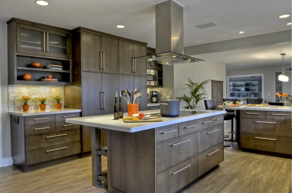 Pental Tile for a Contemporary Kitchen with a Specialty Glass and Contemporary. Clean, Warm Kitchen by Kristin Lam Interiors