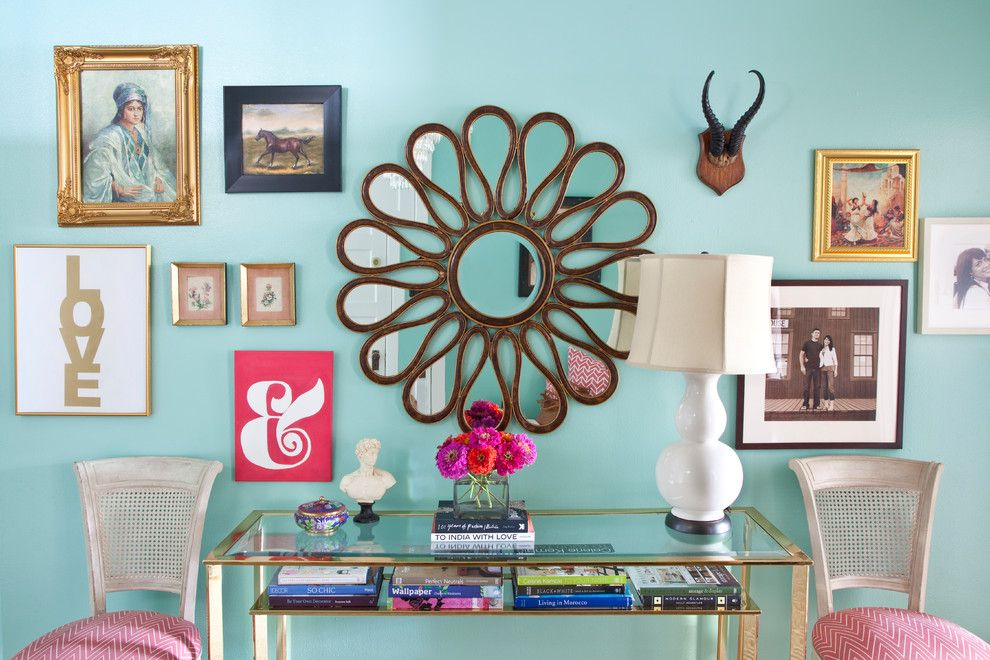 Penthouse Philadelphia for a Eclectic Entry with a Console Table and Philadelphia Penthouse by Caitlin Wilson Design