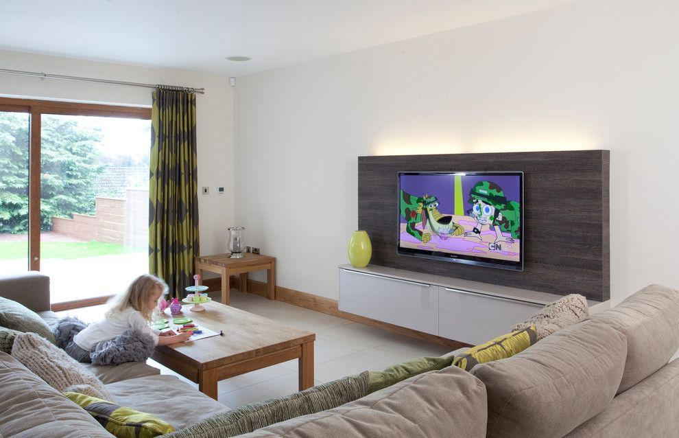 Peoples United Bank for a Contemporary Living Room with a Cartoons and Contemporary Kitchen by Parkes Interiors