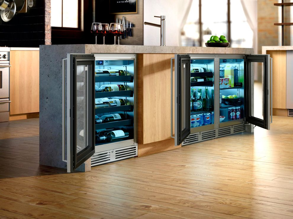 Perlick for a  Spaces with a Shallow Depth Wine Reserve and Downtown Industrial Loft Kitchen by Perlick