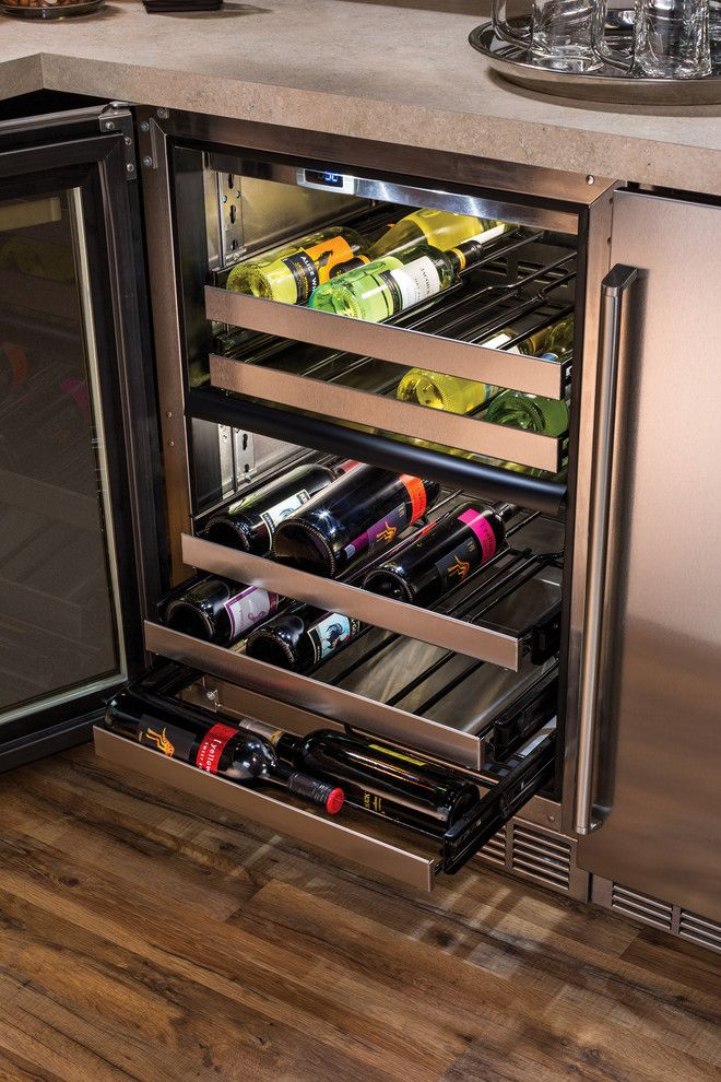 Perlick for a  Spaces with a Wine Cellar and Refrigerated Wine Storage for Red and White Wine by Perlick