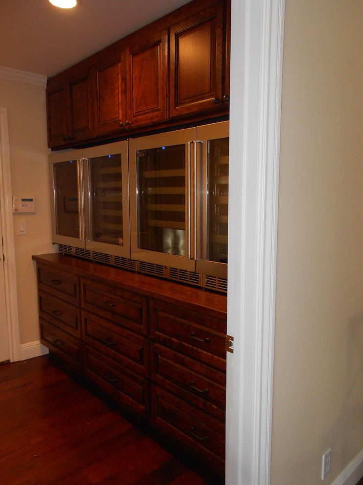 Perlick for a Traditional Spaces with a This Customer Wanted to Install 4 Wine Refrigerators Side by and Perlick Wine Refrigerators by University Electric Home Appliance Center