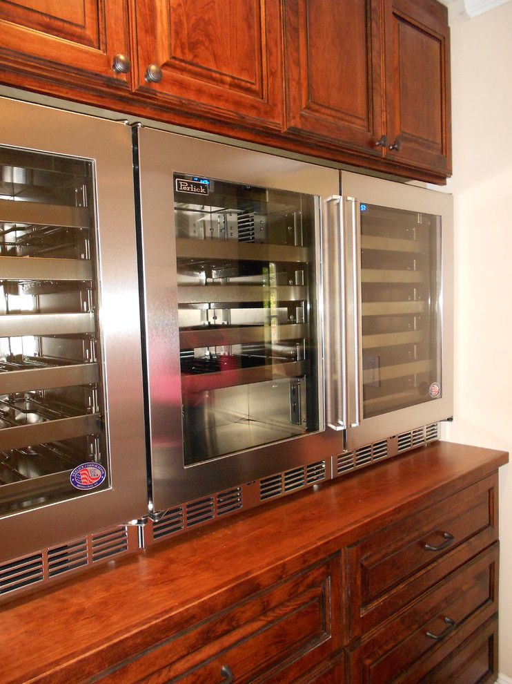 Perlick for a Traditional Wine Cellar with a Wine Refrigerator and Perlick Wine Refrigerators by University Electric Home Appliance Center