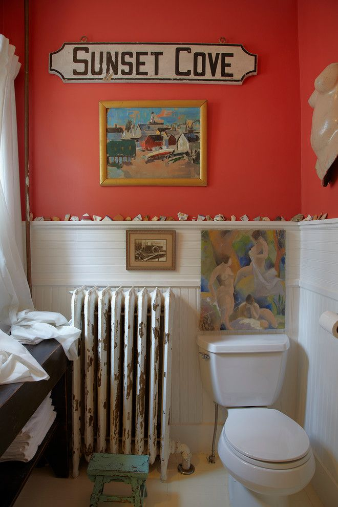 Persimmon Color for a Beach Style Bathroom with a Shabby and Beach House by Ken Gutmaker Architectural Photography