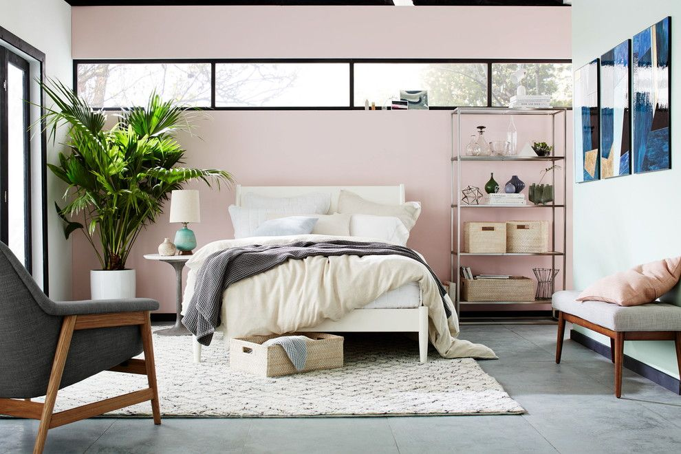 Persimmon Color for a Contemporary Bedroom with a Contemporary and West Elm by West Elm
