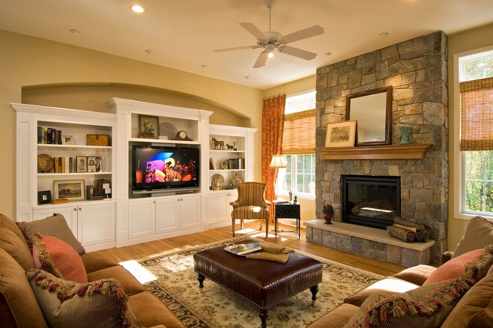 Persimmon Color for a Traditional Family Room with a Living Area and 2008 Saratoga Showcase Home by Belmonte Builders