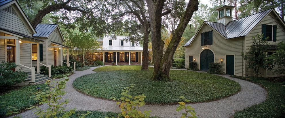 Petit Jean Properties for a Tropical Exterior with a Barn Style and Among the Oaks  |  Spring Island, South Carolina by Historical Concepts