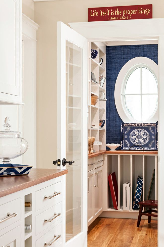 Phillip Jeffries for a Beach Style Kitchen with a Blue Accents and Cape Cod Summer Home by Welch Company Home + Design
