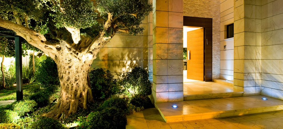 Phormium for a Contemporary Entry with a Outdoor Lighting and Ethan Carmel Architects by Yaniv Schwartz   Photographer
