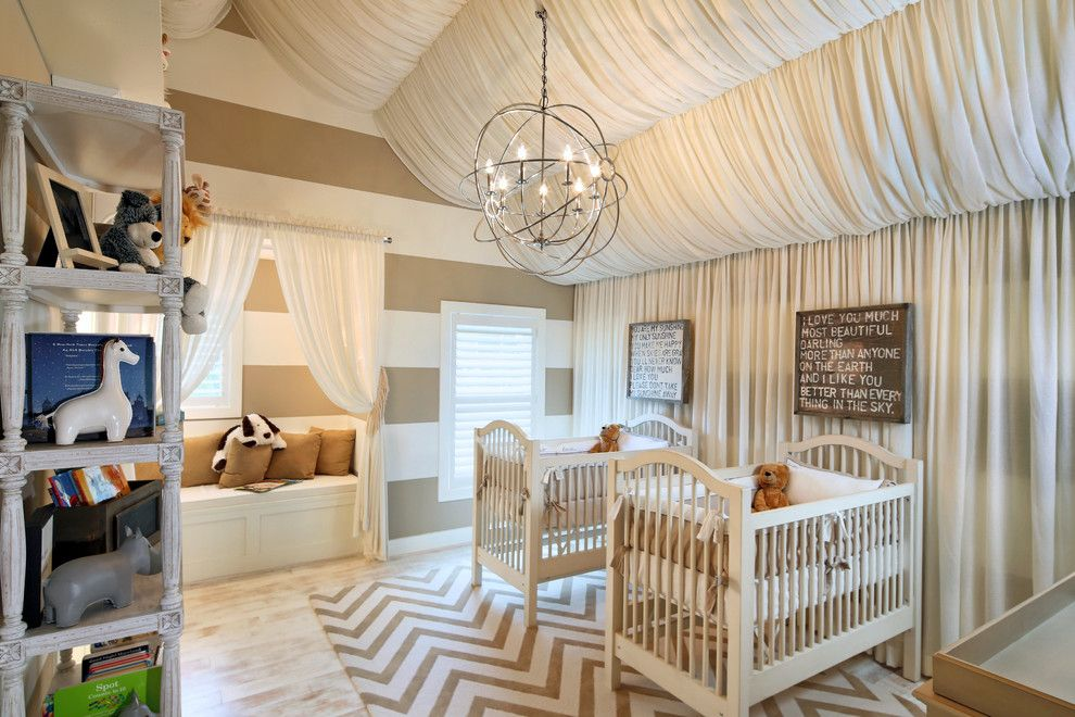Pike Nursery for a Contemporary Nursery with a Stripes and Opal Custom Homes by Opal, Llc
