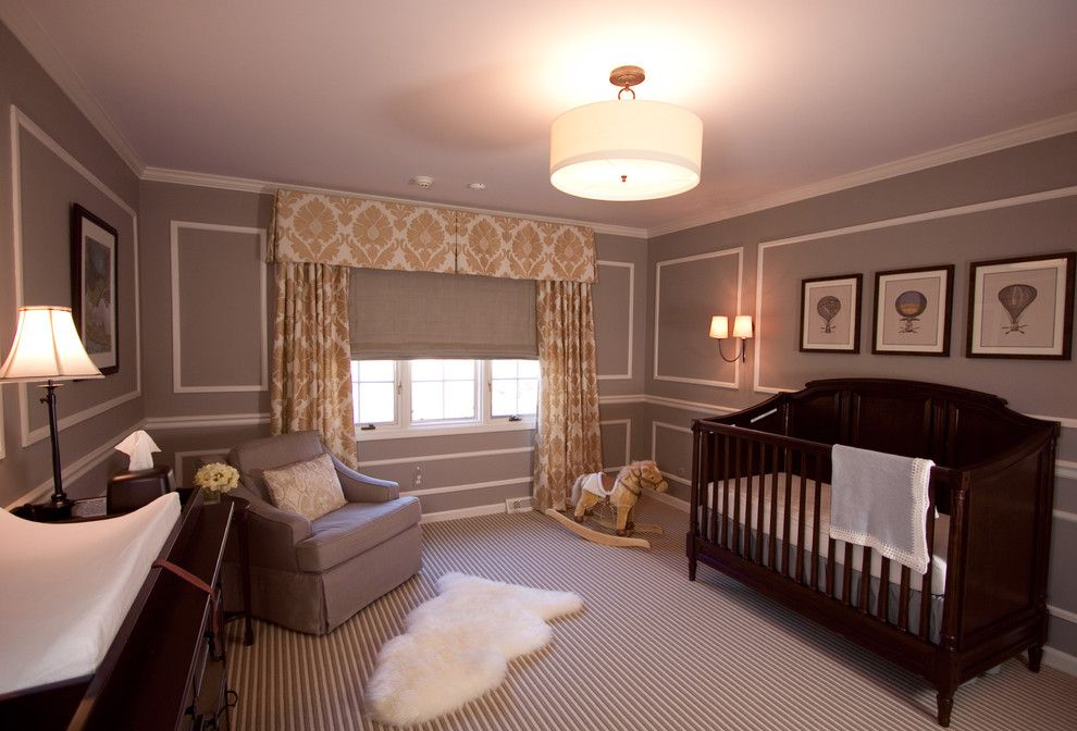 Pike Nursery for a Traditional Nursery with a Table Lamp and Pepper Pike French Inspired by Reflections Interior Design