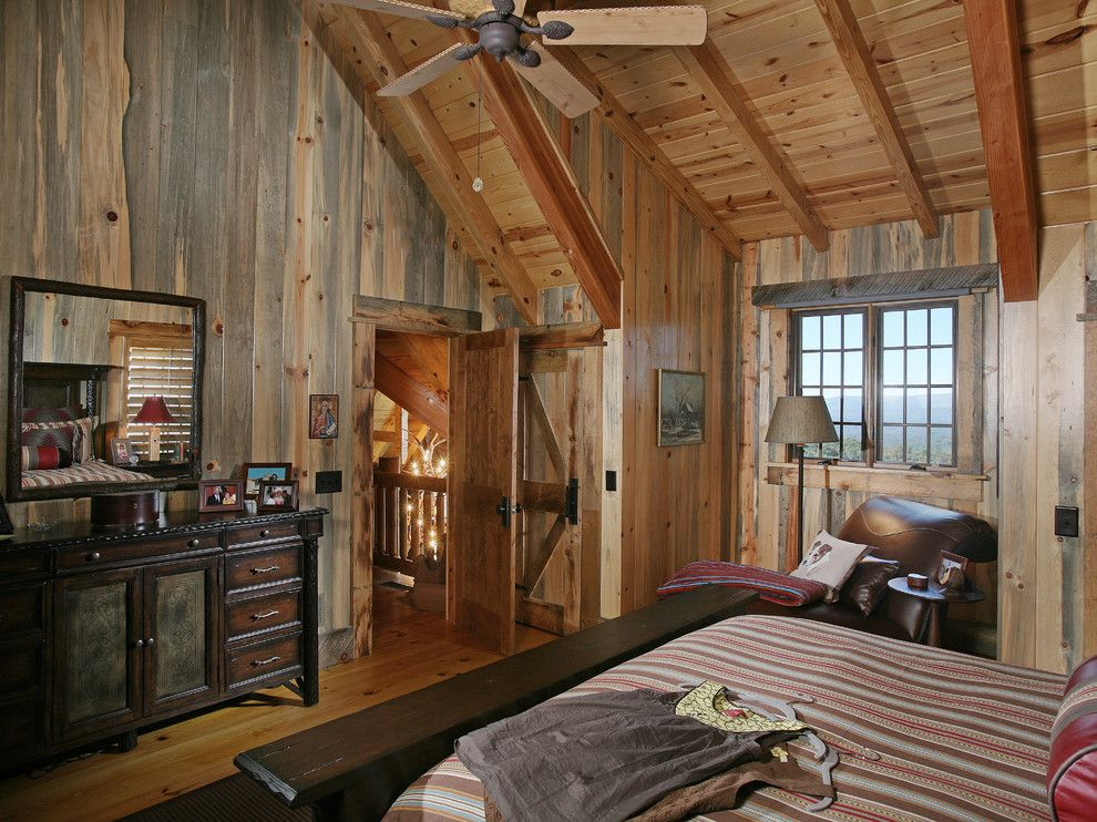 Pine Creek Structures for a Rustic Bedroom with a Rustic and Wild Turkey Lodge Bedrooms by Michael Grant