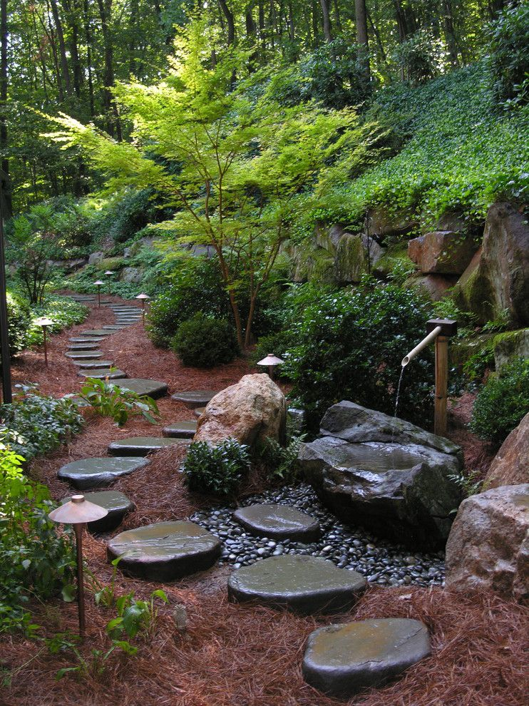 Pine Creek Structures for a Traditional Landscape with a Bronze Lighting and Lancaster Woodland Home and Garden by Hanselman Landscape and Gardens
