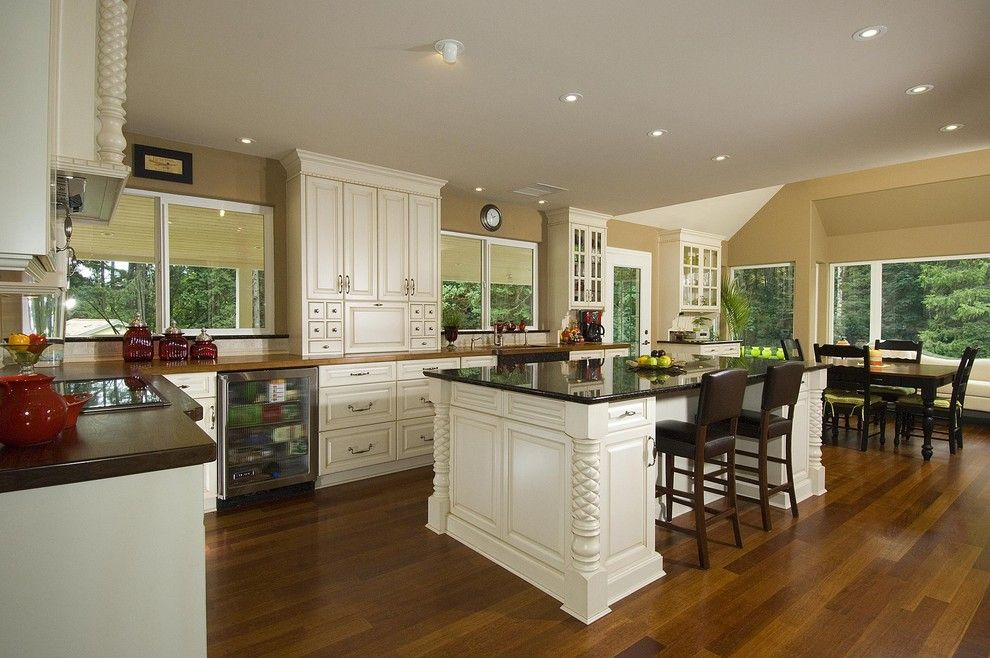 Pineapple Symbolism for a Traditional Kitchen with a Traditional and Pineapple Kitchen by the Sky is the Limit Design