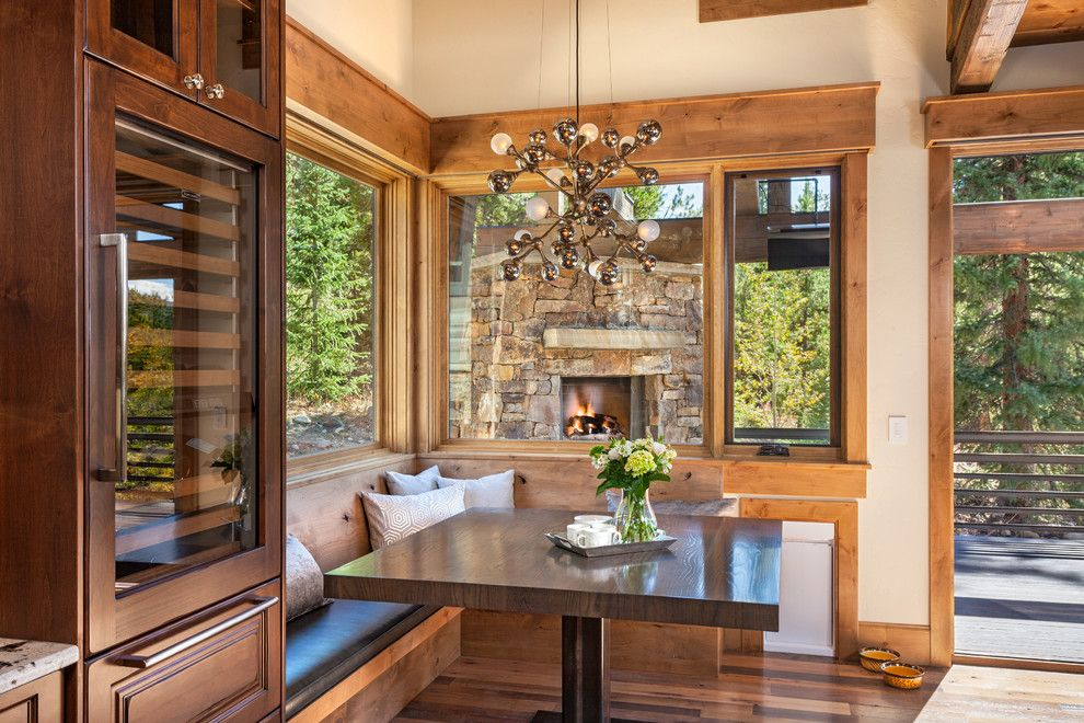 Pinnacle Homes for a Rustic Dining Room with a Paving and 42 Luisa Drive   Nook by Pinnacle Mountain Homes