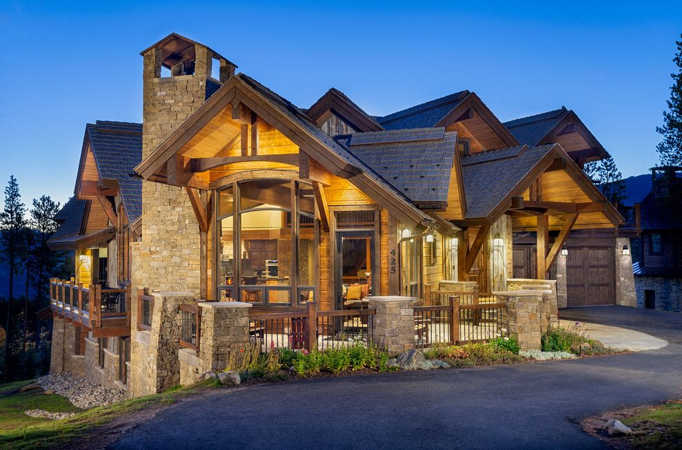 Pinnacle Homes for a Rustic Exterior with a Breckenridge and 425 Timber Trail Road by Pinnacle Mountain Homes