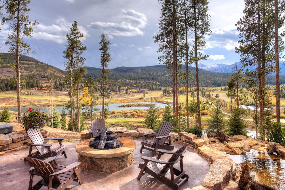 Pinnacle Homes for a Rustic Patio with a Trees and 411 Long Ridge by Pinnacle Mountain Homes